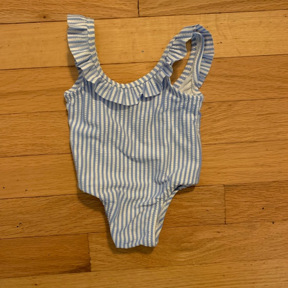 Old Navy Other - 0-3 Seersucker Ruffle Swimsuit NWOT